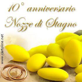 Auguri Anniversario Matrimonio 10 Anni.Anniversario 10 Anni Insieme Anniversario Anniversario Di