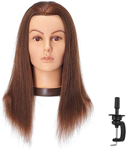 New Hairlink 20 22 Mannequin Head With Human Hair Styling Training Head Dolls Cosmetology Manikin Maniquins Practice Head Stand 9926lb0414h Online Hair Styles Front Hair Styles Wig Styles