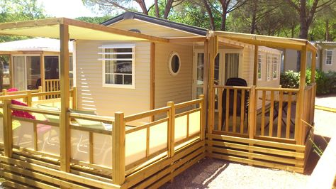 Cottage Barbades Glamping Mobil Home Terrasse