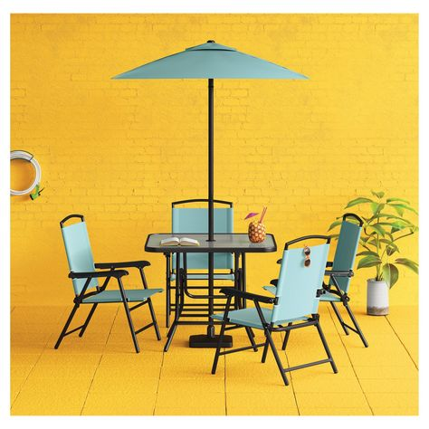 Entertain In Comfort And Style With The Sling Folding Patio Dining Set From Room EssentialsTM Chairs Make Easy To Move Transport