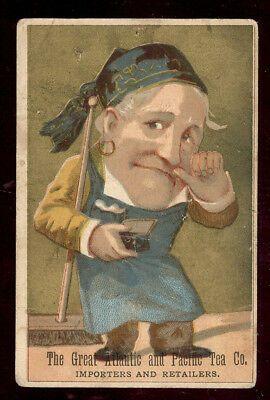 1880s Tea Co Trade Card Vintage Antique Advertising