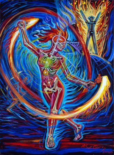 Firedancer Alex Gray Art Alex Grey Art