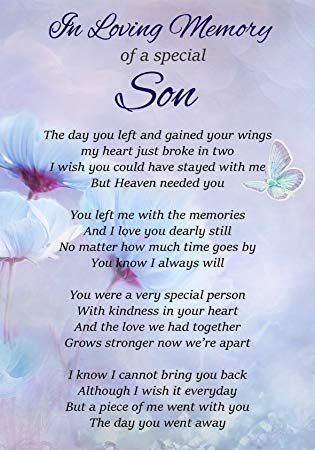 Memorial Poems For Son 2