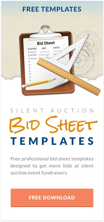 Free Silent Auction Bid Sheet Templates  Auction Display