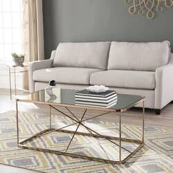 Arviso Sled Coffee Table Clear Coffee Table Furniture Cool