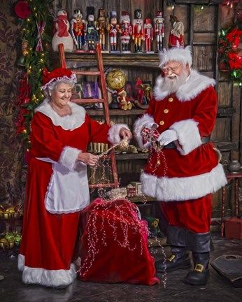 Check And Inspect By Santa S Workshop Classic Christmas Cards Santa Experience Santa Claus