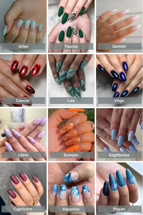 I'm sure you know Astrology is a great tool that helps to guide us to better understand ourselves and our environment and become the best version of ourselves. And with that includes our manicures. Today I've created a fun nail art chart for your to aligne with your zodiac sign so you can creatively express your inner symbolic side!