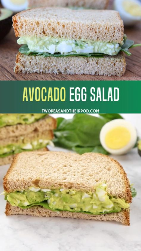 This avocado egg salad is simple yet the best egg salad recipe! The creamy avocado will add a delicious and healthier twists to it. Your kids will definitely enjoy this!