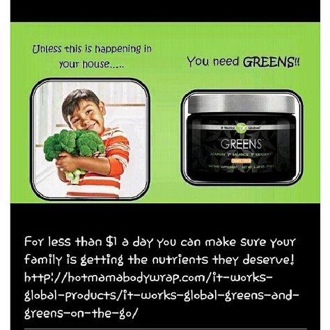 Greens. Detox, get skinny, get healthy. Just do it!  http://hautemamawraps.myitworks.com/shop