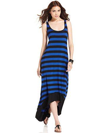 Kensie hi-low maxi dress