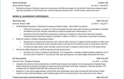 Resume For Service Industry Or Fresh Service Industry Resume