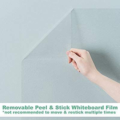 Amazon Com Think Board Clear Self Adhesive Whiteboard Wall