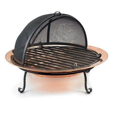 Patio Garden Copper Fire Pit Wood Burning Fire Pit Fire Pit Spark Screen