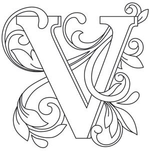Letter Perfect - Letter V | Urban Threads: Unique and Awesome Embroidery Designs
