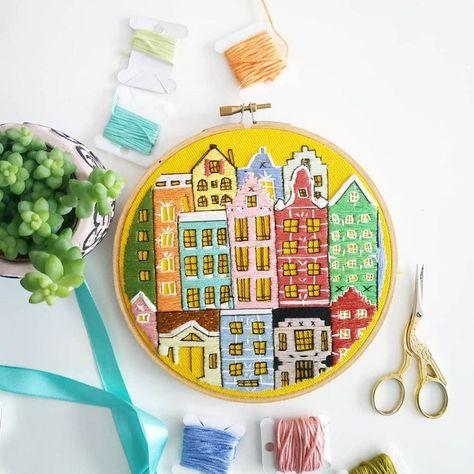 Amsterdam Embroidery Pattern