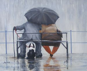 Des Brophy - Image of 'Three's Company' Giclee canvas