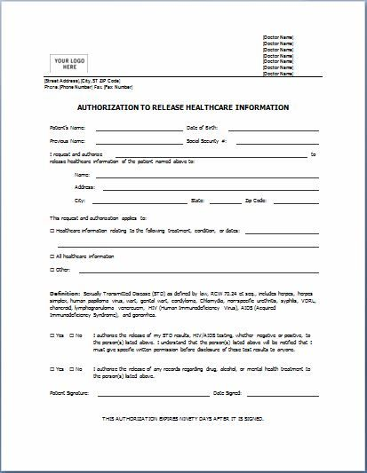 Sample Medical Authorization Form Templates Printable Medical Forms Letters Sheets Consent Forms Word Template Microsoft Word Templates