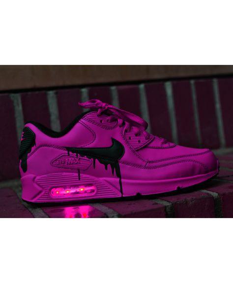 c37b53702ac4 Nike Air Max 90 Candy Drip Leather Peachblow Black Trainer UK