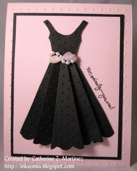 Платья из бумаги своими руками на открытку, днем рождения