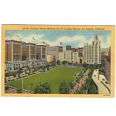 Ebay Sponsored Postcard California Los Angeles Pershing Square With Biltmore Vintage C 1952 In 2020 Postcard Los Angeles California Pershing