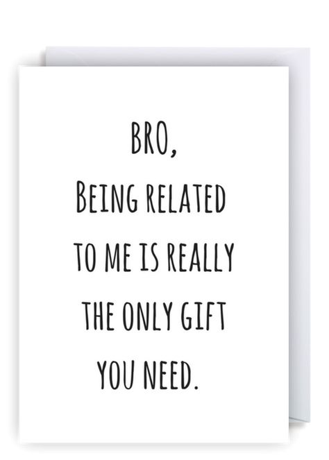 Flamingolingocouk Cheeky Fun Greetings Cards We Ship Worldwide Free Delivery Within The UK Funny Brother Birthday Card Bro Being Related To Me Is