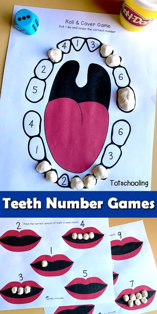 Kids Health FREE teeth printable games for dental health theme in preschool, featuring number recognition and counting activities. - FREE teeth printable games for dental health theme in preschool, featuring number recognition and counting activities. Body Preschool, Free Preschool, Preschool Activities, Toddler Preschool, Number Games Preschool, Preschool Classroom, Preschool Printables, Number Games For Preschoolers, Letter T Activities