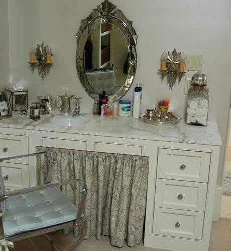 old dresser turned into vanity