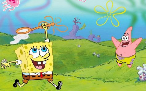 HD wallpaper: SpongeBob SquarePants and Patrick Star wallpaper, cartoon, Bob l'éponge