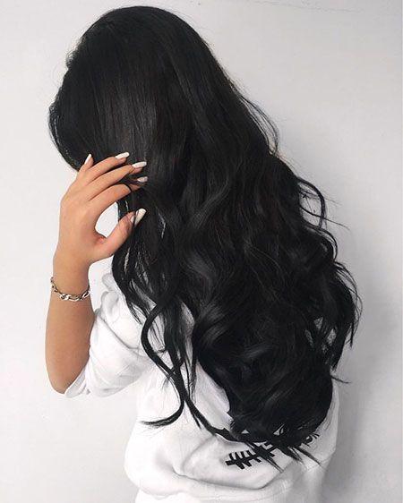 18 Schwarze Lange Lockige Frisuren 2017 Lockige Frisuren Haarfarben Langhaarfrisuren