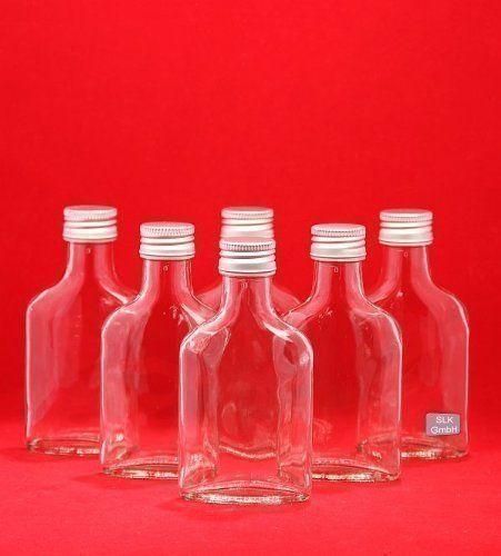 SLK GmbH - 10 Bottiglie di vetro vuote, con tappo a vite, 100 ml, per liquore, grappa, aceto, olio, altezza 12,3 cm: Amazon.it: Casa e cucina