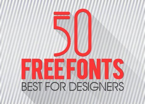 50 Best Free Fonts for Designers #freefotns #fonts2014 ...