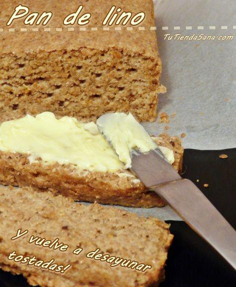 Pan de lino molido, bajo en hidratos alto en fibra