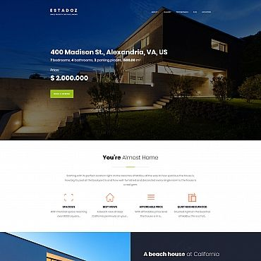 Estadoz - Real Estate Business-Moto CMS 3 Templates