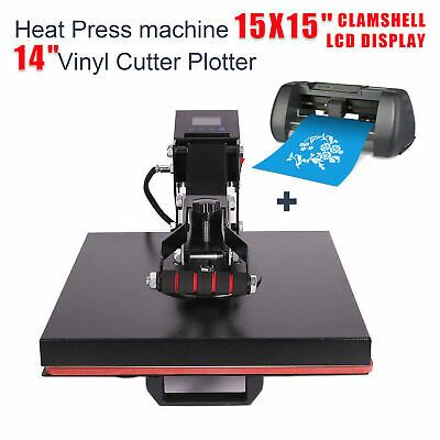 Ebay Sponsored Clamshell Heat Press Machine 15x15 14 Vinyl Cutter Plotter Printer Sublimation In 2020 Heat Press Machine Press Machine Vinyl Cutter