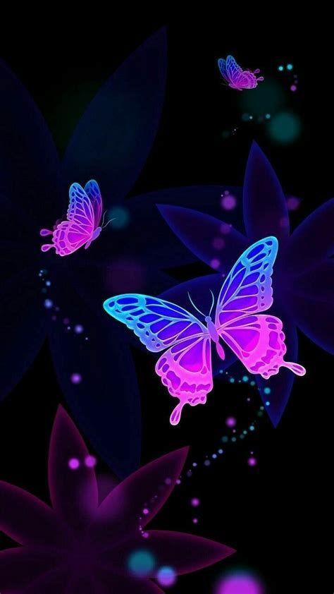 Pin By Ana On Feest Purple Butterfly Wallpaper Purple In 2021 Butterfly Wallpaper Iphone Butterfly Wallpaper Neon Wallpaper