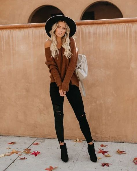 Trendy Fall Outfits, Outfits With Hats, Cute Casual Outfits, Winter Fashion Outfits, Mode Outfits, Fall Winter Outfits, Look Fashion, Autumn Winter Fashion, Bohemian Fall Outfits