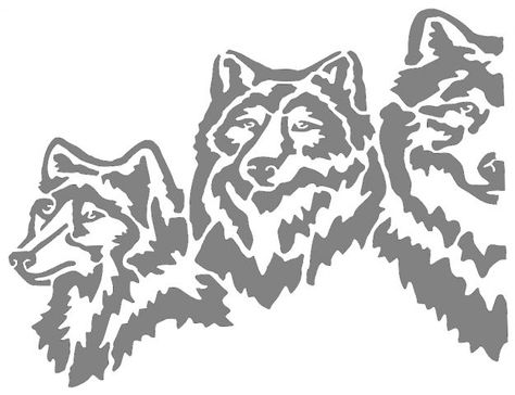 5 Wolves Bitmap Stretched 2 Animals User Gallery Scroll Saw