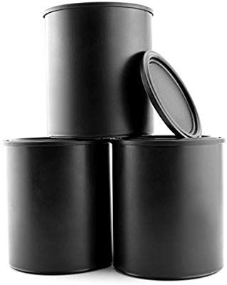 Black Plastic Paint Cans 3 Pack Quart Size Cans For Paints Varnishes Or Crafts Gifts Amazon Com Industrial Scie Paint Cans Paint And Varnish Canning