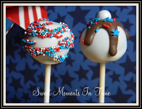July 4th Cake pops www.facebook.com/sweetmomentsintime