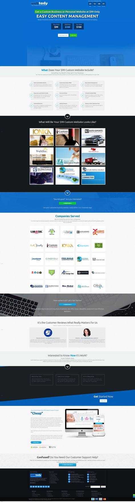 $99 Custom Website Design