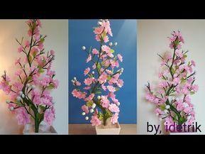 Cara Membuat Bunga Plastik Kresek Beautiful Flower Craft From