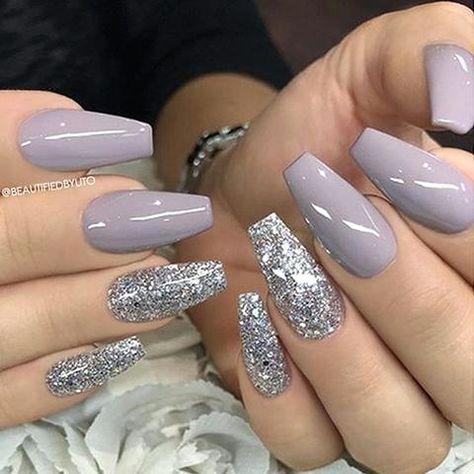 40 Stunning Glitter Nail Designs Ideas to Beautify Your Nail #GlitterNail #GlitterNailDesignsIdeas