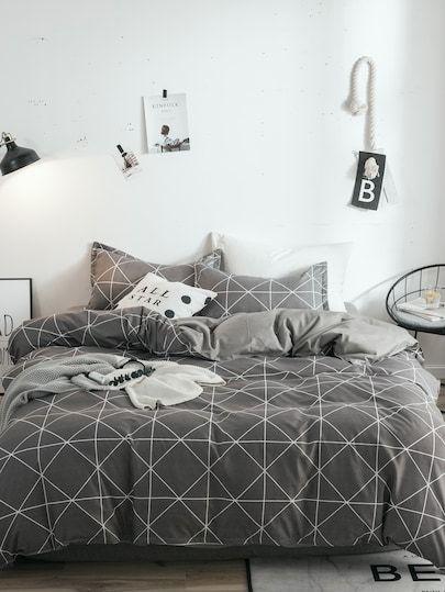 Geometric Print Duvet Cover 1pc Kids Bedding Sets Duvet Covers