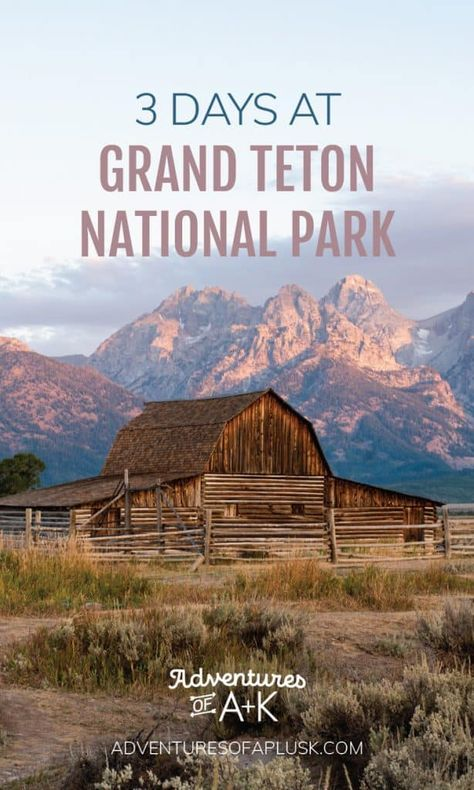 Headed to Grand Teton National Park? In this 3 days at Grand Teton itinerary we share where to stay, where to eat, and the best hikes in the park! National Parks Map, Capitol Reef National Park, Grand Teton National Park, Badlands National Park, Jackson Wyoming, Jackson Hole, Yellowstone Nationalpark, Yellowstone Vacation, Best Hikes