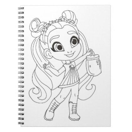 Hairdorables Fire Fly Neila Coloring Notebook Zazzle Com In 2021 Color Coloring Pages Lol Dolls