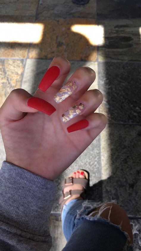 Gel Nails The Difference Between Three Phase And Single Phase Gel With Images Red Acrylic Nails Red Matte Nails Nails