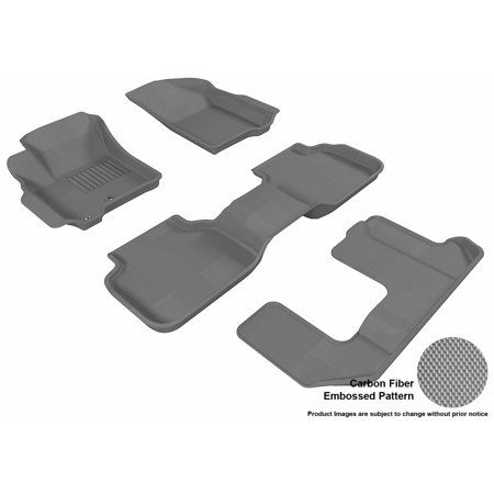 3d Maxpider 2009 2013 Dodge Journey Front Second Third Row Set All Weather Floor Liners In Gray With Carbon Fiber Look Dodge Journey Mercedes Benz Gl Mercedes Benz Gl Class