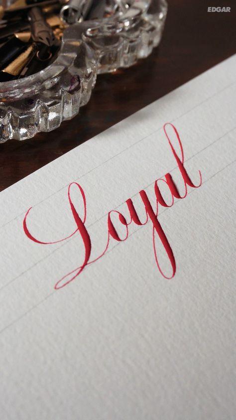 'Loyal' written in the Copperplate script. #calligraphy #copperplate #copperplatecalligraphy