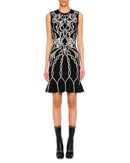 96f09712 Alexander McQueen Ophelia Printed Sleeveless Sheath Dress in 2019 | Alexander  McQueen ss/ 2019 | Dresses, Sheath Dress, Alexander McQueen