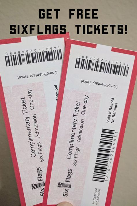 Six Flags Is Giving Away Free Tickets Promociones